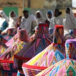 Ethiopië-Axum-kleurrijke markt