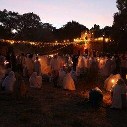 Ethiopië-Gondar-Timkat vallei