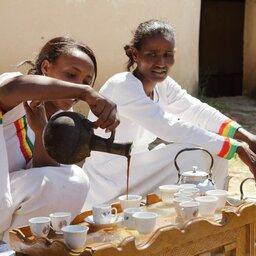 Ethiopië-koffie ceremonie