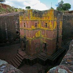 Ethiopië-Lalibela-rotskerk geel