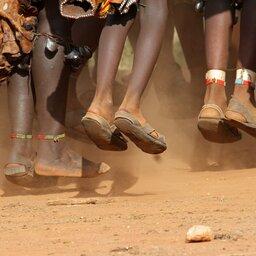 Ethiopië-Omo vallei-Dansende hamer vrouwen
