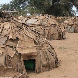 Ethiopië-Omo vallei-Dasanesh dorp