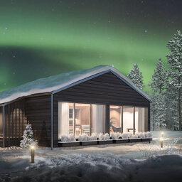 Finland-Lapland-Ivalo-wilderness-hotel-Inari-panorama-chalet-noorderlicht