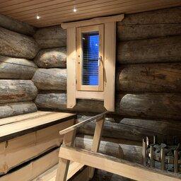 Finland-Lapland-Ivalo-Wilderness-Hotel-Nangu-panorama-log-cabin-privesauna