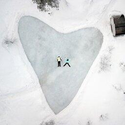 Finland-Lapland-Northern-Lights-Ranch-schaatspiste-romantisch