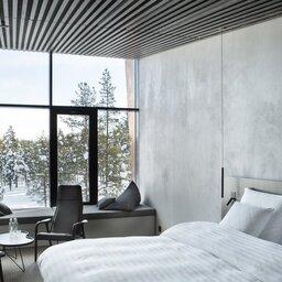 Finland-Lapland-Saariselka-Javri-Lodge-slaapkamer-skyview-double