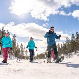 Finland-Lapland-Saariselka-Javri-Lodge-sneeuwschoenwandelen