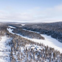 Finland-Lapland-Yllas-L7-Luxury-Lodge-omgeving-luchtfoto