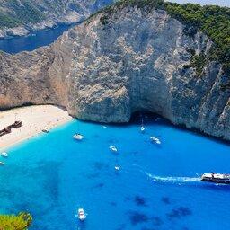 Griekenland -  shipwreck bay -  Zakynthos island