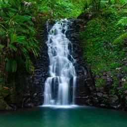Guadeloupe-Basseterre-tropische waterval