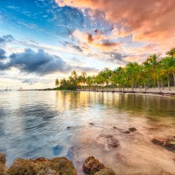 Guadeloupe-Saint Francois-Anse Champagne Beach zonsondergang