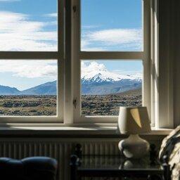 IJsland-Snæfellsness -Hotel-Búdir-uitzicht-kamer