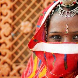 India-algemeen-traditioneel meisje