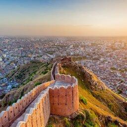 India-Jaipur-zicht op de stad