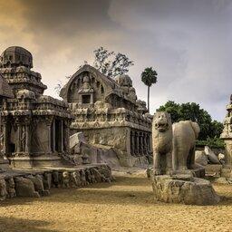 India-Mahabalipuram-hoogtepunt-Pancha Rathas