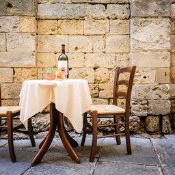 Italië-algemeen-typische tafel