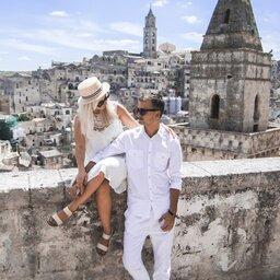 Italië-Basilicata-algemeen-Romantisch-koppel-matera