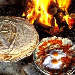 Italië-Sardinië-Oost-Su Gologone Experience Hotel-keuken vuur