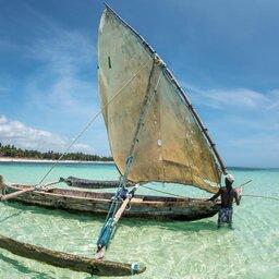 Kenia-Lamu-houten catamaran