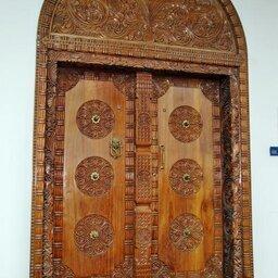 Kenia-Lamu-houten deur Swahili