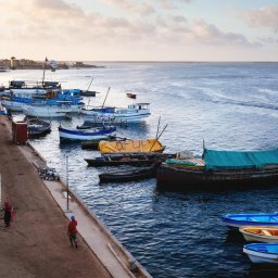 Kenia-Lamu-kade oude stad