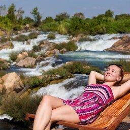Laos-Don Khone-4000 eilanden dame