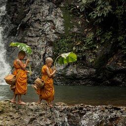 Laos-Luang Prabang-monikken kindjes