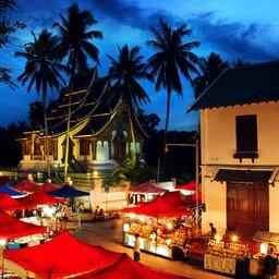 Laos-Luang Prabang-night market