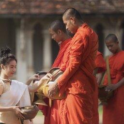 Laos-Luang Prabang-Tagbat ceremonie