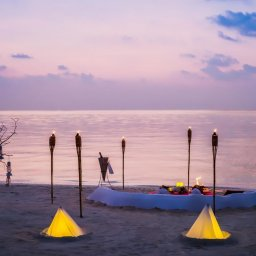 Malediven-Anantara-Veli-romantische-setting-op-het-strand
