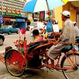 Maleisie-Georgetown-hoogtepunt-fietstaxi