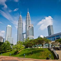 Maleisie-Kuala Lumpur-hoogtepunt - Petronas Twin Towers overdag