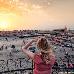Marokko - Jamaa el-Fna market -Marrakech