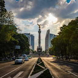 Mexico -Paseo de La Reforma avenue - Angel of Independence Monument