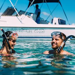 Mozambique-Vilanculos-Hotel-Santorini-snorkelen-koppel