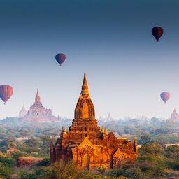 Myanmar-Bagan-hoogtepunt-luchtbalonnen