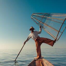 Myanmar-Inle meer-hoogtepunt-beenroeier