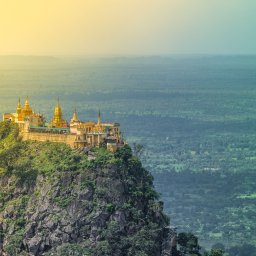 Myanmar-Mount Popa-hoogtepunt