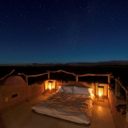 Namibië-algemeen-slapen onder de sterrenhemel