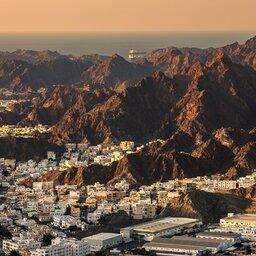 Oman-Muscat-zicht op stad
