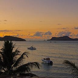 Seychellen-Larchipel- sunset