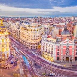 Spanje - Madrid - Calle de Alcala - Gran Via