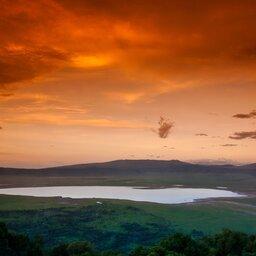 Tanzania-Ngorongoro-zonsondergang