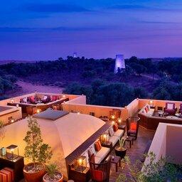 VAE-Ras Al Khaimah-Ritz Carlton Al Wadi Desert-rooftop restaurant