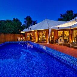 VAE-Ras Al Khaimah-Ritz Carlton Al Wadi Desert-zwembad