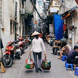 Vietnam-Hanoi-straatbeeld