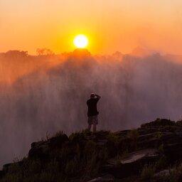 Zimbabwe-Victoria Falls-zonsondergang
