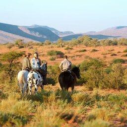 Zuid-Afrika-Tswalu-Kalahari-Private-reserve-the-motse-safarilodge-wetu-paardrijden