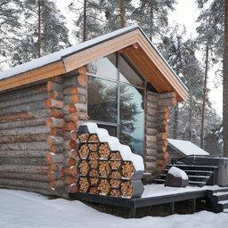 Zweden-Lapland-Gunnarsbyn-Arctic-Retreat-buiten-zijaanzicht