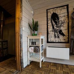 Zweden-Lapland-Harads-Loggers-Lodge-ingang-sauna